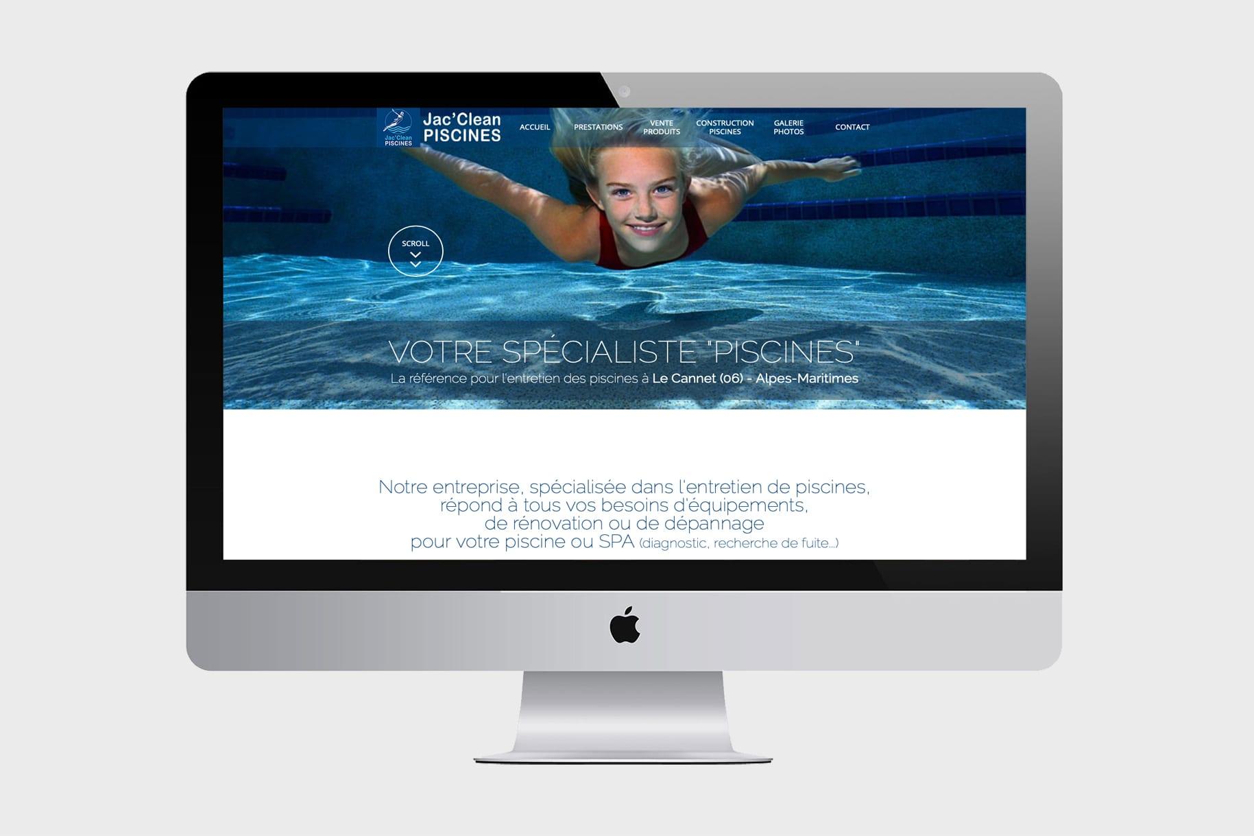 Jac'Clean Piscines - Site Web Corporate