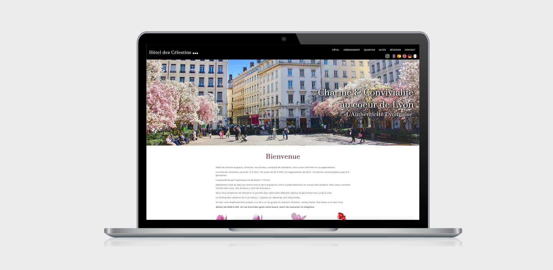 Hôtel des Célestins - Ordinateur portable Responsive