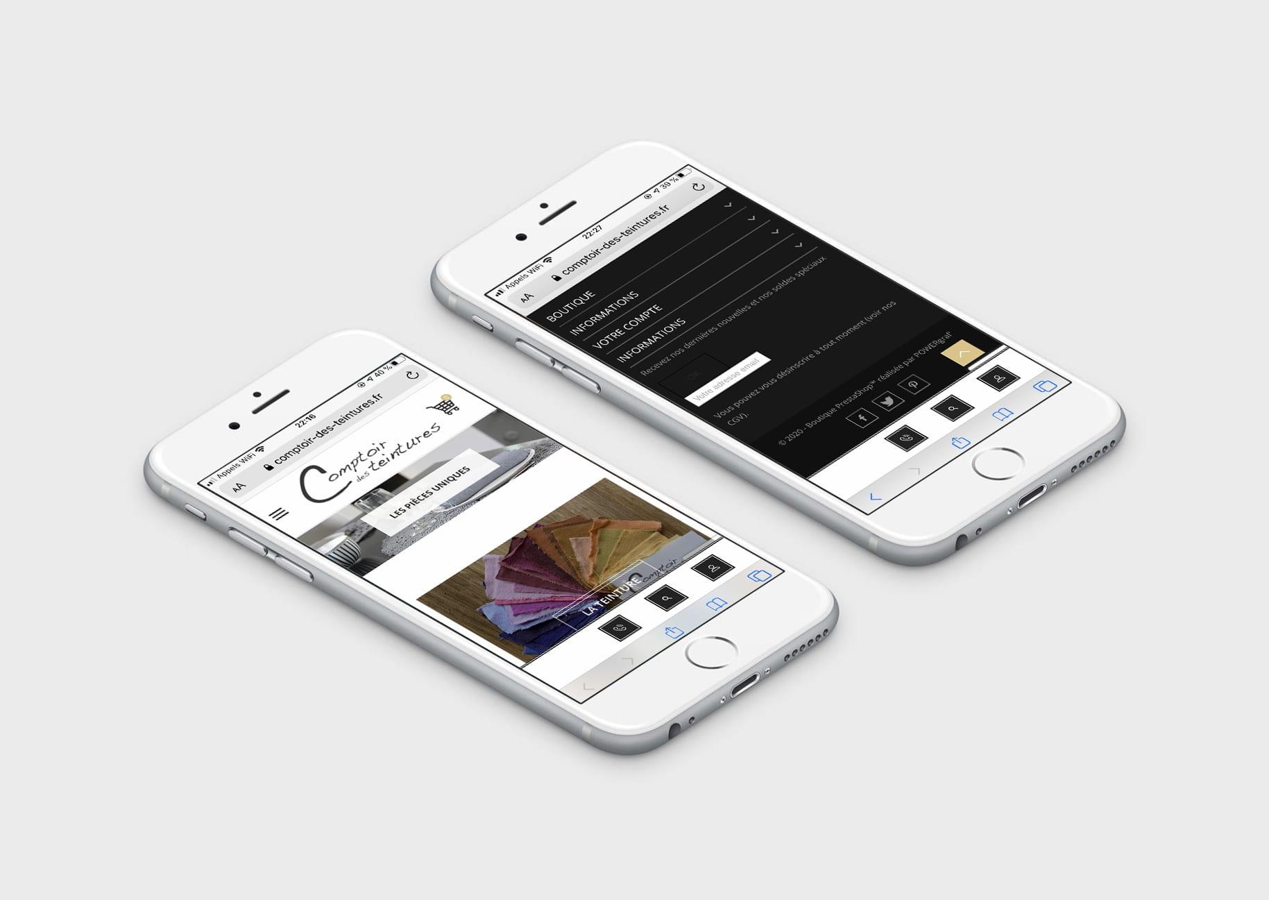 Comptoir des Teintures - Smartphone Responsive