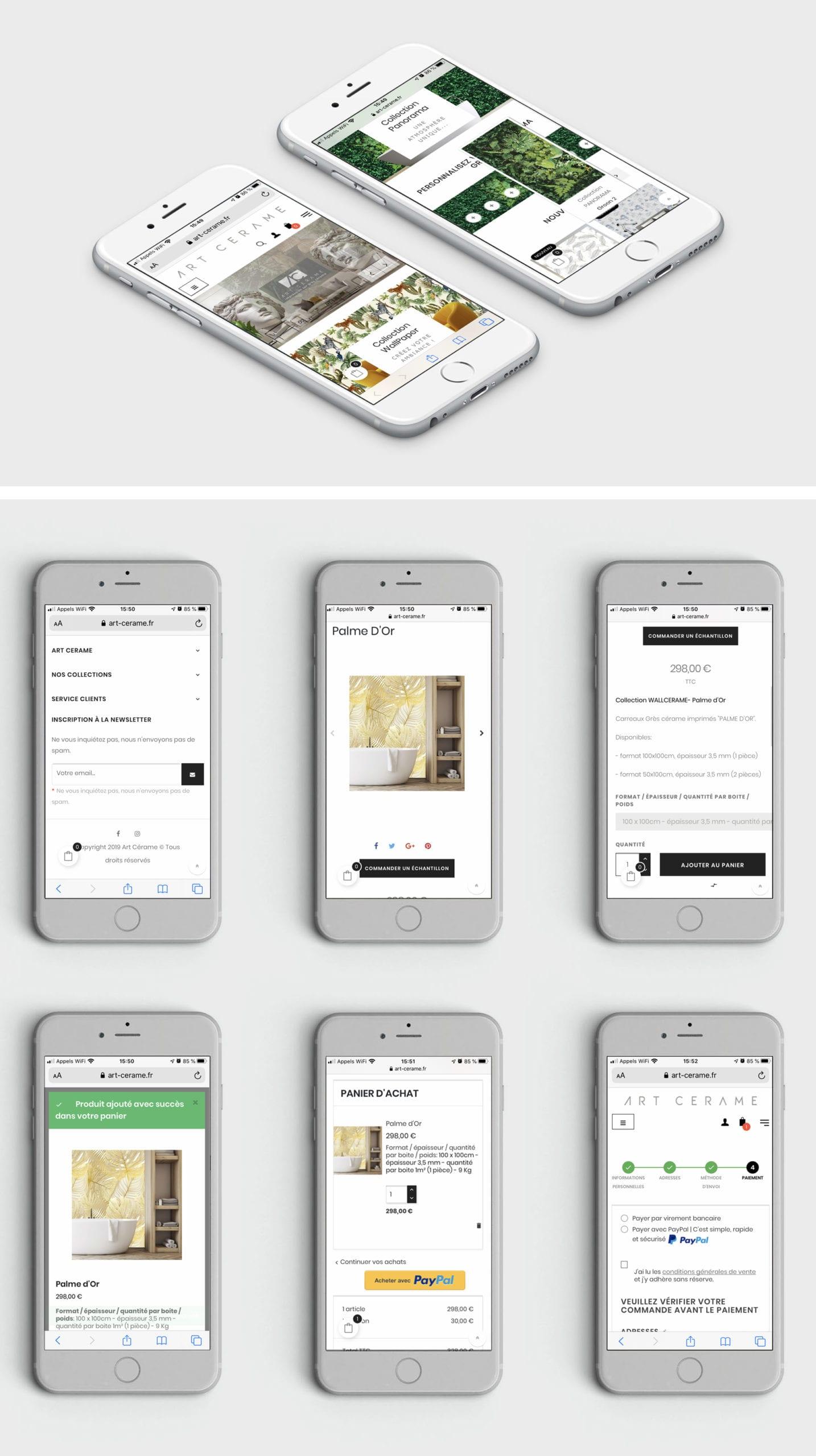 ART CERAME - Responsive Smartphone