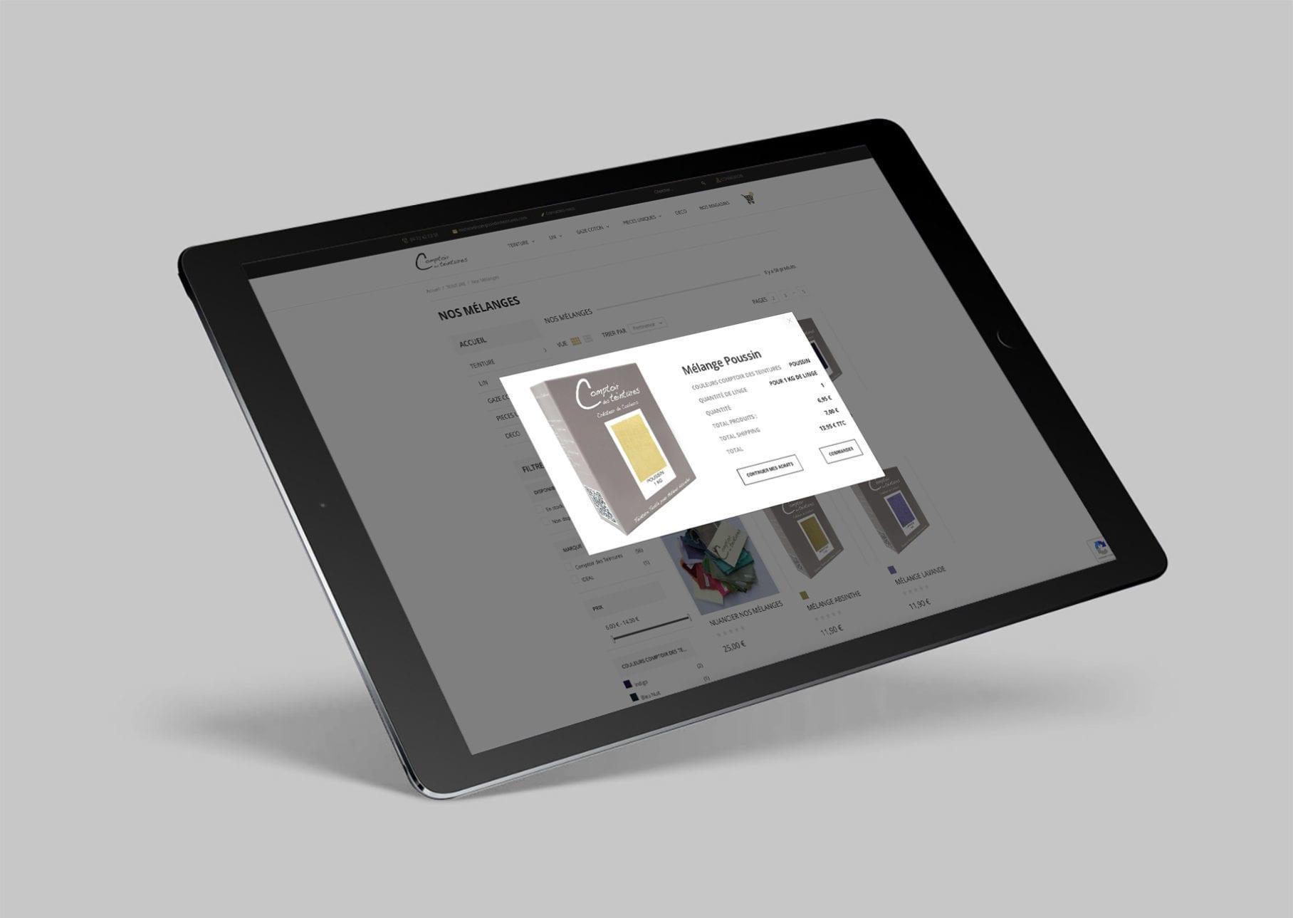 Comptoir des Teintures - Tablette Responsive