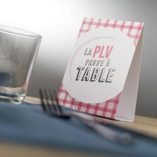 PLV chevalet de table